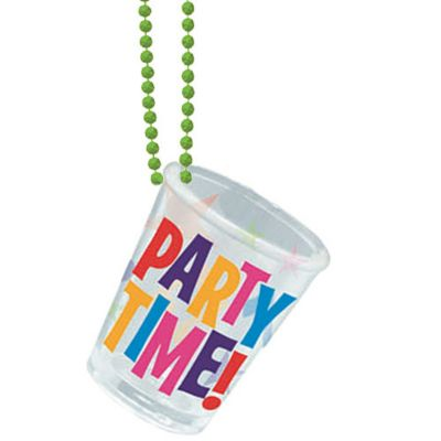Lets Party Shot Glass Necklace 20in