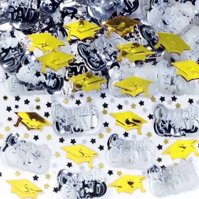 Metallic Yellow Graduation Confetti