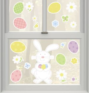 Vinyl Easter Bunny Window Decals 20ct