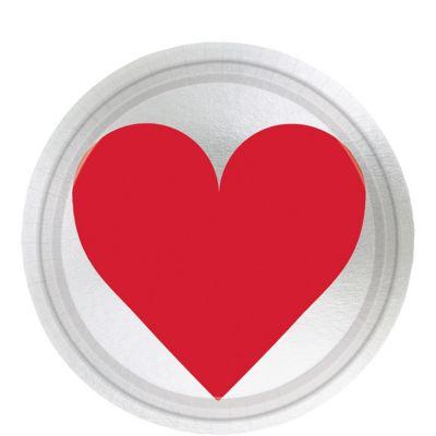Metallic Key to Your Heart Valentine's Day Dessert Plates 8ct