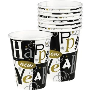 New Year's Block Cups 8ct