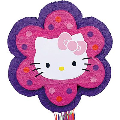 Pull String Flower Hello Kitty Pinata