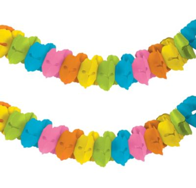 Multicolor Paper Garland 12ft