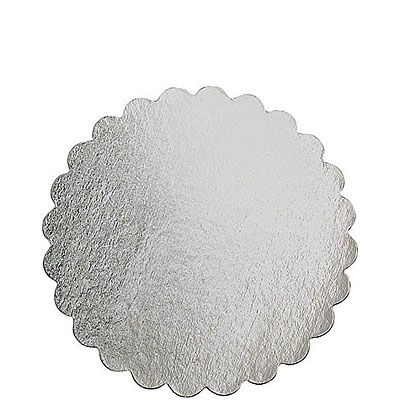 Silver 12in Round Cardboard Platter
