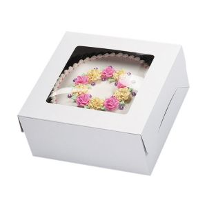 White Window Cake Box 12in x 12in