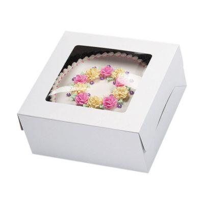 White Window Cake Box 12in x 12in