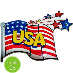 Light-Up USA Flag Pin