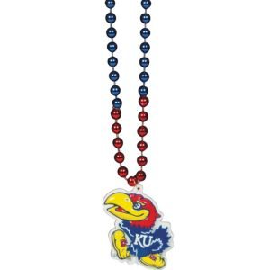 Kansas Jayhawks Pendant Bead Necklace