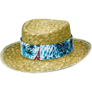 Floral Band Straw Hat