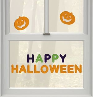 Happy Halloween Gel Cling Decals 16ct