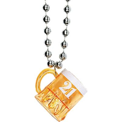 21st Birthday Beer Mug Necklace