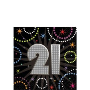 Time to Party 21st Birthday Beverage Napkins 16ct