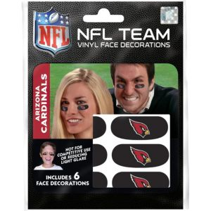 Arizona Cardinals Eye Black Stickers 6ct