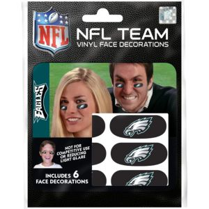 Philadelphia Eagles Eye Black Stickers 6ct