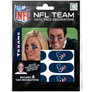 Houston Texans Eye Black Stickers 6ct