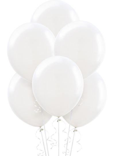White Balloons 72ct