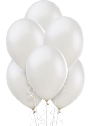 White Pearl Balloons 72ct