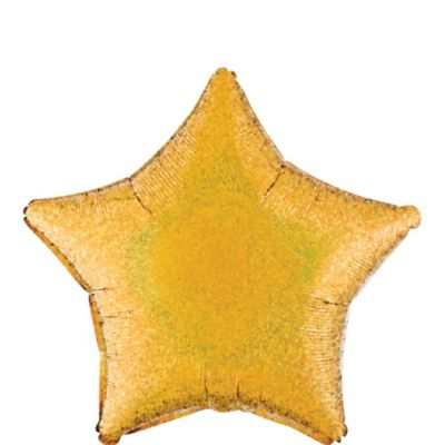 Gold Star Balloon - Prismatic