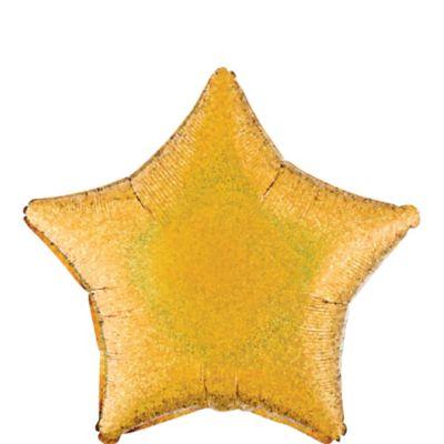 Gold Star Balloon - Prismatic