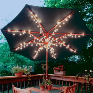 Clear Patio Umbrella Lights 8ct