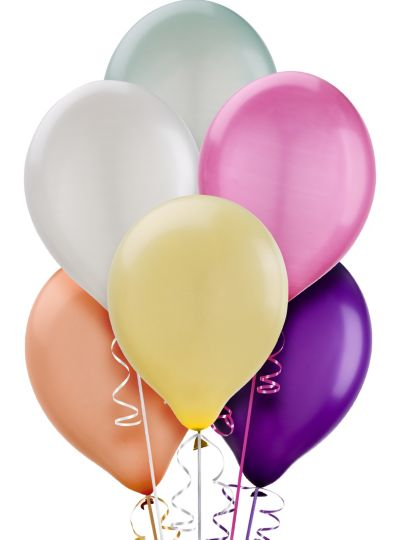 Assorted Pearl Balloons 10ct