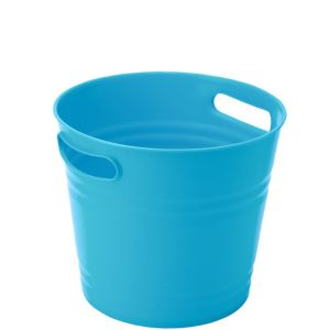 Caribbean Blue Plastic Ice Bucket