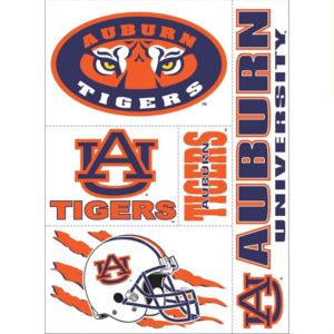 Auburn Tigers Decals 5ct