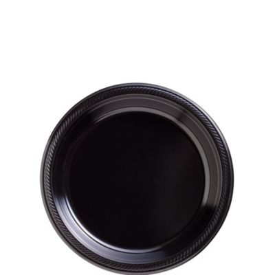 Black Plastic Dessert Plates 50ct