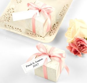 Pearlized Border Printable Favor Tags 120ct