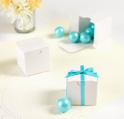White Wedding Favor Boxes 100ct