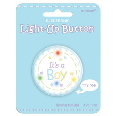 It's a Boy Light Up Button