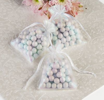 Iridescent Organza Wedding Favor Bags