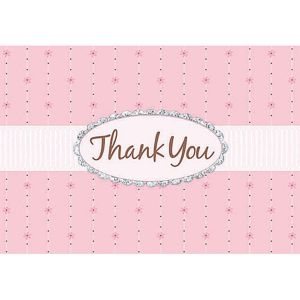 Glitter Pink Passion Thank You Notes 8ct