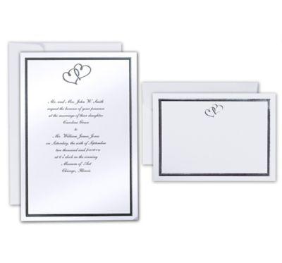 Sweet Heart Printable Wedding Invitations Kit 50ct