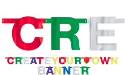 Create-Your-Own Large Metallic Banner Kit 84pc