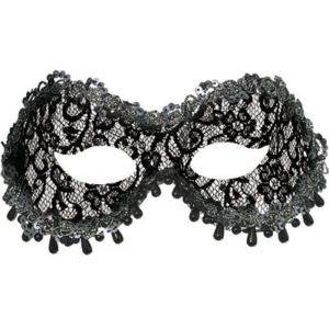 Black Lace Raindrop Masquerade Mask