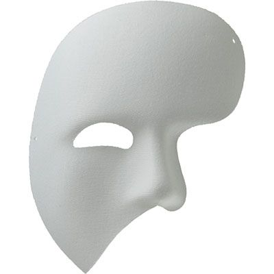 White Satin Diagonal Face Mask