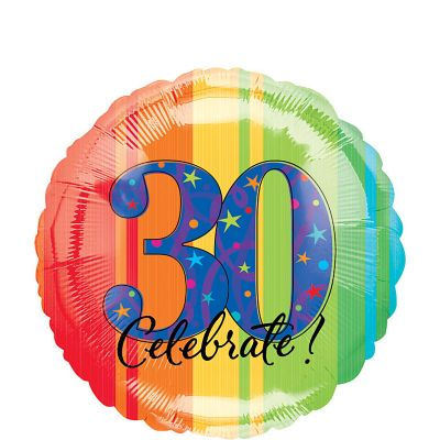 30th Birthday Balloon - A Year to Celebrate