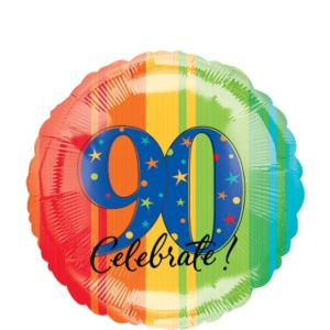 90th Birthday Balloon - A Year to Celebrate