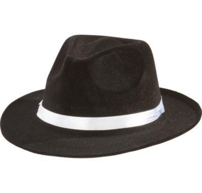 Black Gangster Hat