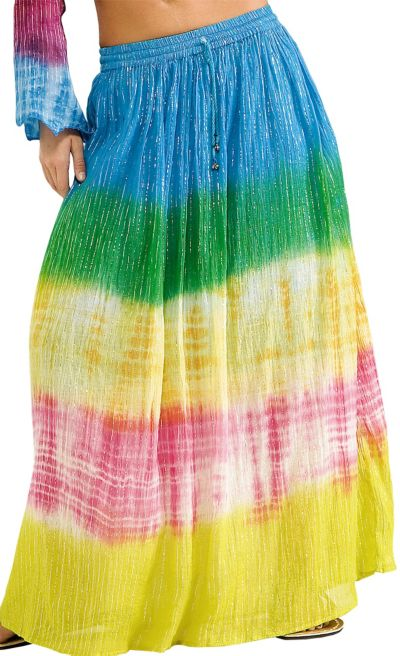 Adult Tie-Dyed Hippie Skirt