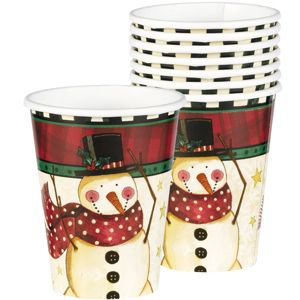 Cozy Snowman Cups 8ct