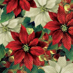 Regal Poinsettia Lunch Napkins 16ct