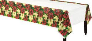 Regal Poinsettia Table Cover