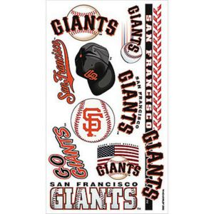 san francisco giants tattoos 10ct party city. Black Bedroom Furniture Sets. Home Design Ideas