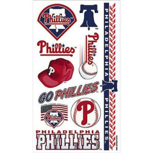 philadelphia phillies tattoos 10ct party city. Black Bedroom Furniture Sets. Home Design Ideas