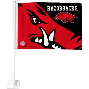 Arkansas Razorbacks Car Flag