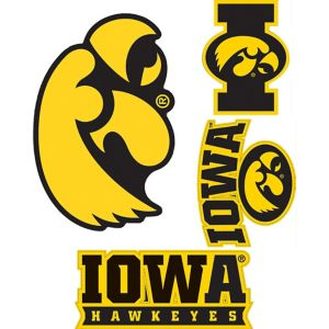 Iowa Hawkeyes Decals 5ct