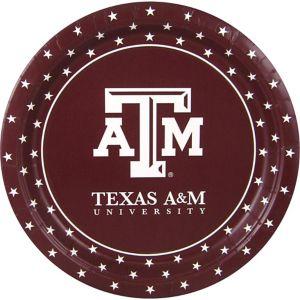 Texas A&M Aggies Lunch Plates 10ct