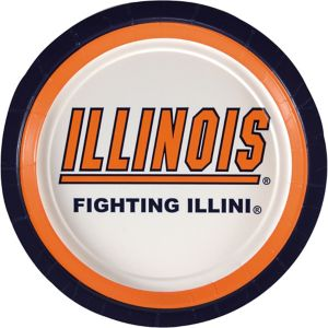 Illinois Fighting Illini Lunch Plates 10ct
